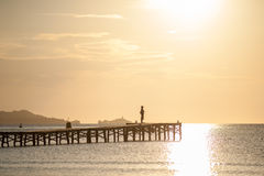 在Alcudia,西班牙的日出 库存图片