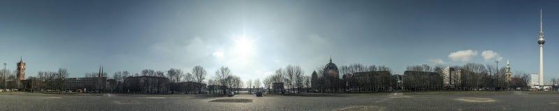 在Alexanderplatz附近被射击的全景 免版税库存照片