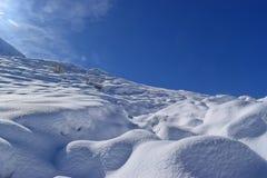 在Allgäu山的第一雪 免版税库存图片