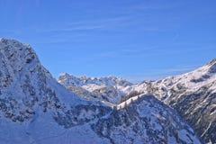 在Allgäu山的第一雪 免版税库存照片
