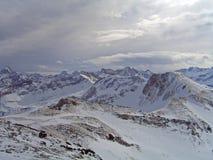 在Allgau阿尔卑斯的看法 免版税库存图片