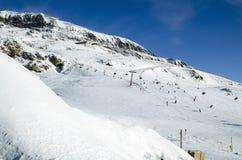 在Alpe d'Huez的倾斜。 法国 免版税库存图片