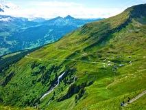 在Alpes山的夏天,瑞士 库存照片