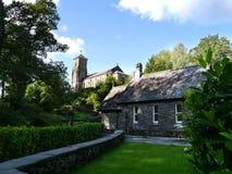 在Ambleside,湖区附近的Brathay教会 库存照片