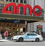 在AMC电影院的证券 库存照片