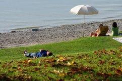 在Ammersee的海滩 免版税库存图片
