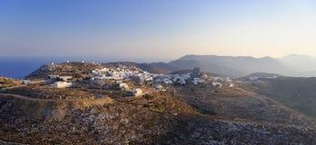 在Amorgos海岛上的Chora村庄 免版税库存图片