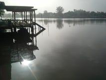 在Amphawa的早晨 库存照片