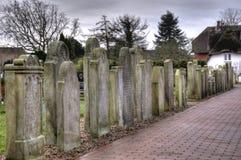 在Amrum的历史的水手墓碑 库存图片