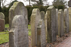 在Amrum的历史的水手墓碑 免版税库存照片