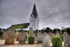 在Amrum的历史的水手墓碑 图库摄影