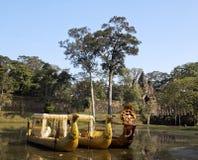 在Angkor的门 免版税库存照片