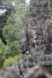 在Angkor的Bayon寺庙 库存照片