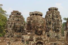 在Angkor的Bayon寺庙 免版税库存照片