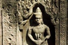 在angkor wat的一apsara apsara 免版税库存图片