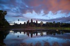 在Angkor Wat的古老走廊 库存照片