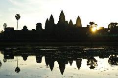 在angkor wat的日出 图库摄影