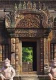 在angkor wat的门道入口 免版税库存图片