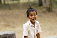 在Ankor Wat,柬埔寨附近的孩子的 库存图片