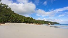 在anse拉齐奥的天堂海滩在塞舌尔群岛6 免版税库存图片