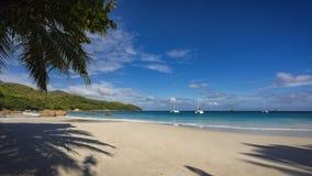 在anse拉齐奥的筏在塞舌尔群岛15 库存图片
