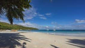 在anse拉齐奥的筏在塞舌尔群岛16 库存照片