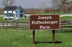 在Antietam国民战场的约瑟夫Poffenberger农庄 免版税库存照片