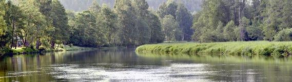 在Anyksciai附近的Sventoji河 免版税库存图片