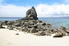 Apo海岛海滩Dumaguete菲律宾 库存照片