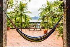 在Apoyo湖尼加拉瓜的一个典型的看法 库存照片