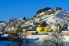 在Appenzellerland的冬天 库存照片