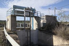 在Aquaduct的水门 库存照片