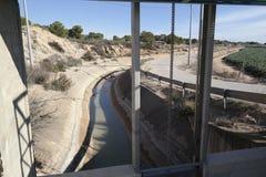 在Aquaduct的水门 免版税库存图片