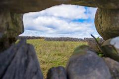 在Aran海岛上的岩石篱芭 库存图片