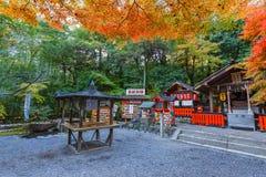在Arashiyama的Nonomiya-jinja寺庙在京都 免版税库存图片