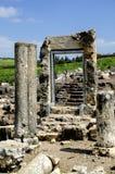 在arbel古老犹太教堂的门 免版税图库摄影