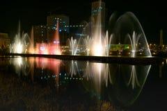 在Ardagani湖的跳舞喷泉 巴统 佐治亚 库存照片