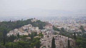 在Areopagus小山的鸟瞰图 股票视频