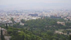 在Areopagus小山的鸟瞰图 股票录像