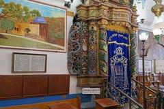 在Ari犹太教堂的摩西五经平底船 免版税库存照片