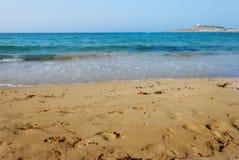 在Armier海湾的沙子 免版税图库摄影