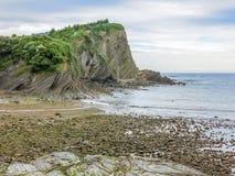 在Armintza海滩的风景看法,在毕尔巴鄂附近,巴斯克地区,西班牙 免版税图库摄影