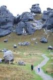 在artherpass的岩石山 免版税库存照片