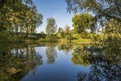 在Asperen附近的Hondegat 免版税库存照片