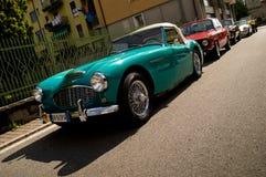 在Aspettando la Mille Miglia的绿色MG蜘蛛2016年 免版税库存图片