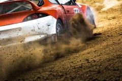 在autocross的汽车 免版税库存照片