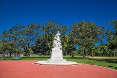 在Av的纪念碑 pres 费古洛阿尔科塔在布宜诺斯艾利斯,阿根廷 免版税图库摄影