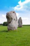 在Avebury,英国的常设石头 免版税图库摄影