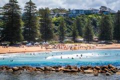 在Avoca海滩,澳大利亚的地方体育挑战 免版税库存照片