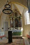 在Axente修改切断教会在弗劳恩多尔夫,罗马尼亚 库存照片